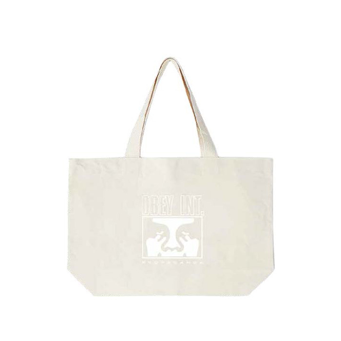 오베이 OBEY INT. ICON FACE TOTE BAGS/NATURAL