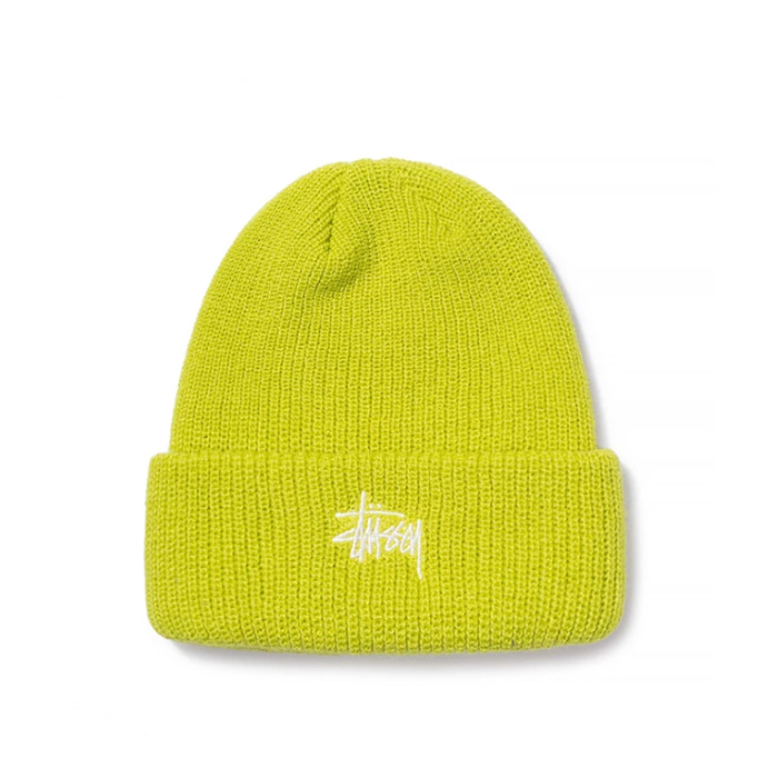스투시 비니 SP19 BASIC CUFF BEANIE/LIME