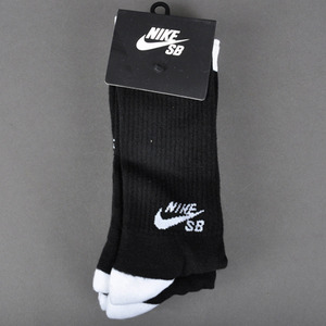 나이키SB   NIKE SB 1PAIR  CREW SOCKS // BLACK/WHITE