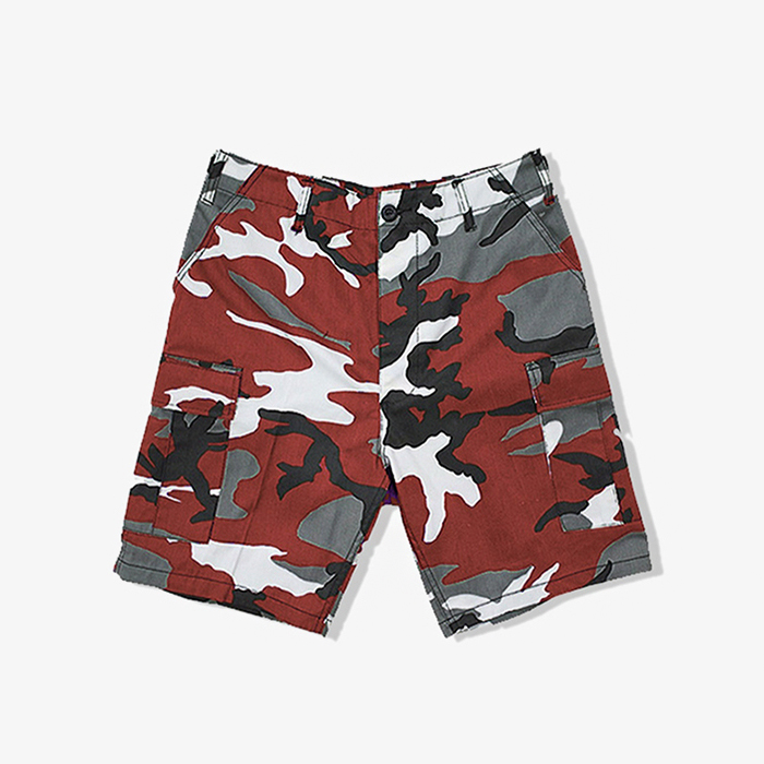 로스코 반바지 Camo BDU Shorts // Red Camo