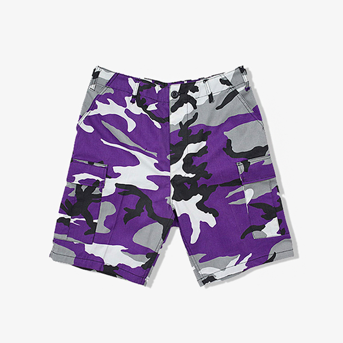 로스코 반바지 Colored Camo BDU Shorts // Violet