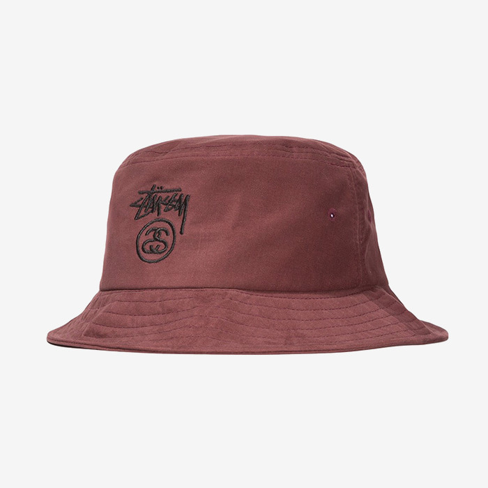 스투시 STOCK LOCK BUCKET HAT // BURGUNDY