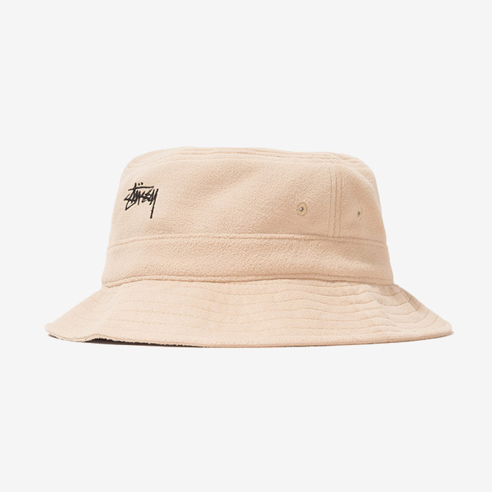 스투시 STOCK MICRO FLEECE BUCKET HAT // CAMEL