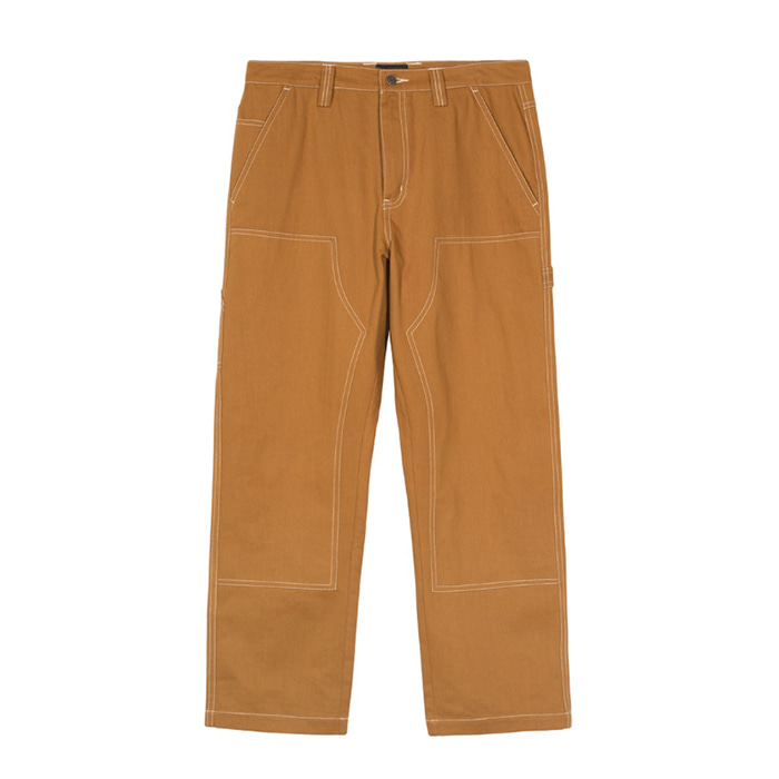 스투시 HERRINGBONE WORK PANT/BROWN