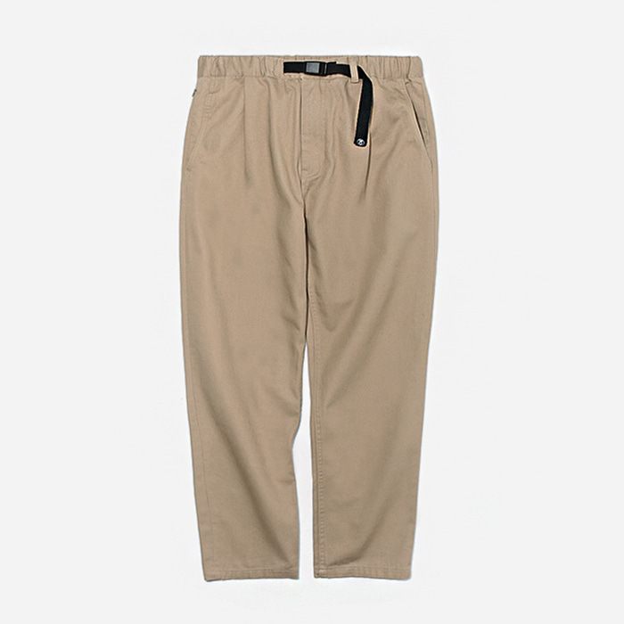 커버낫 바지COTTON TWILL SLIM EASY PANTS/BEIGE