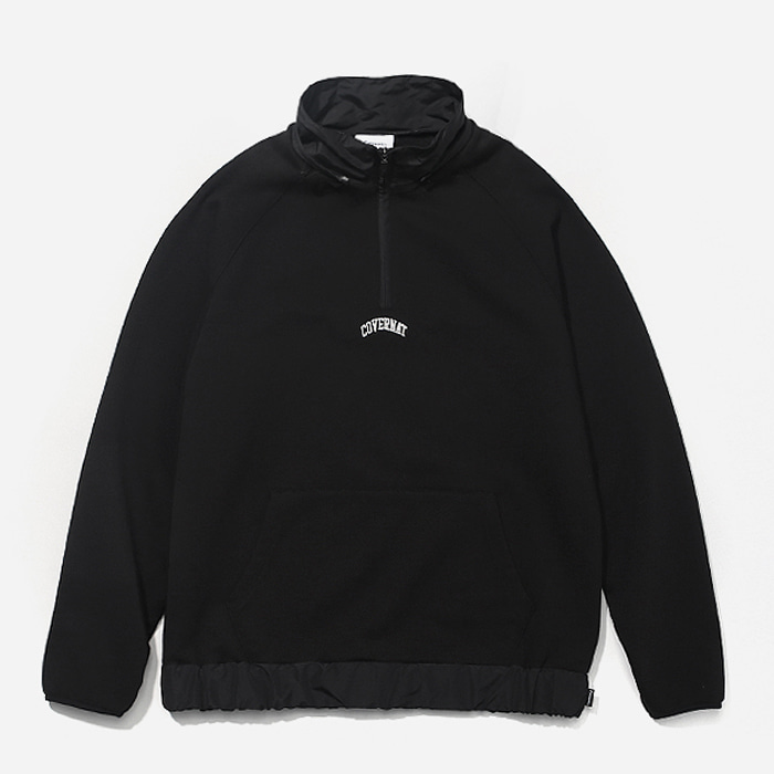 커버낫 하프집업 2WAY MIXED HALF ZIP-UP BLACK