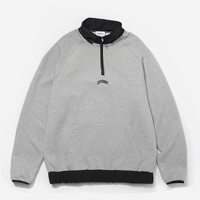 커버낫 하프집업 2WAY MIXED HALF ZIP-UP GRAY