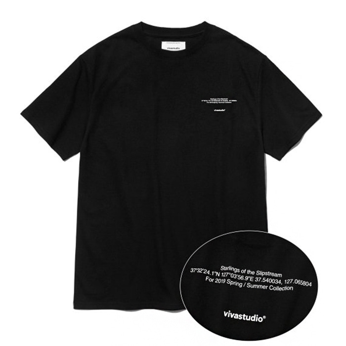 비바스튜디오 티셔츠 NEW LOCATION SHORT SLEEVE IS [BLACK]