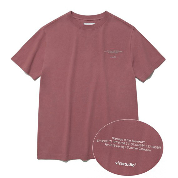비바스튜디오 티셔츠 NEW LOCATION SHORT SLEEVE IS [INDIGO PINK]