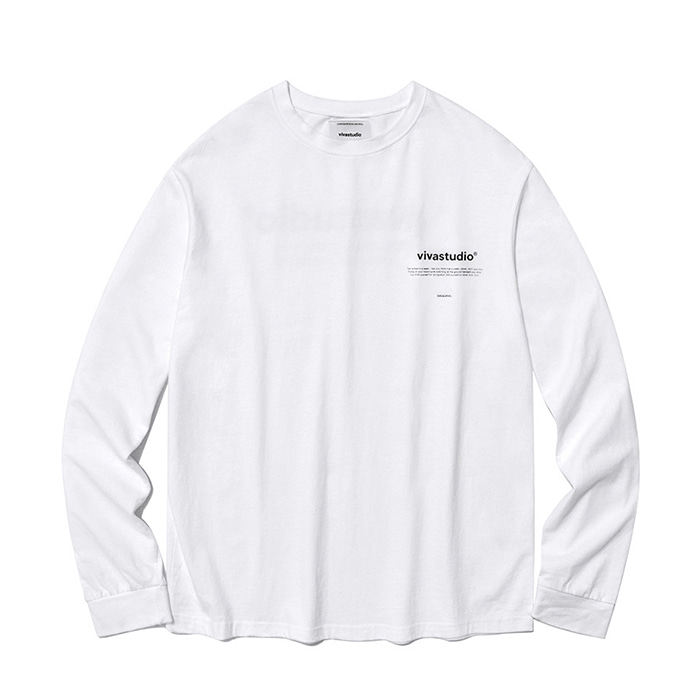 비바스튜디오 롱슬리브 NEW BINAURAL LONG SLEEVE IA_WHITE