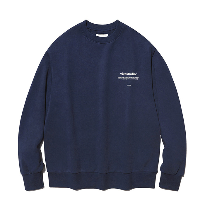 비바스튜디오 맨투맨 NEW BINAURAL CREWNECK IA [NAVY]