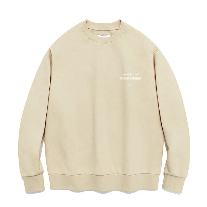 비바스튜디오 맨투맨 NEW BINAURAL CREWNECK IA [BEIGE]