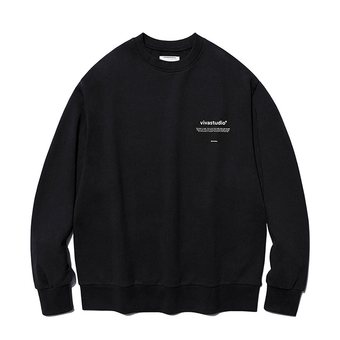 비바스튜디오 맨투맨 NEW BINAURAL CREWNECK IA [BLACK]