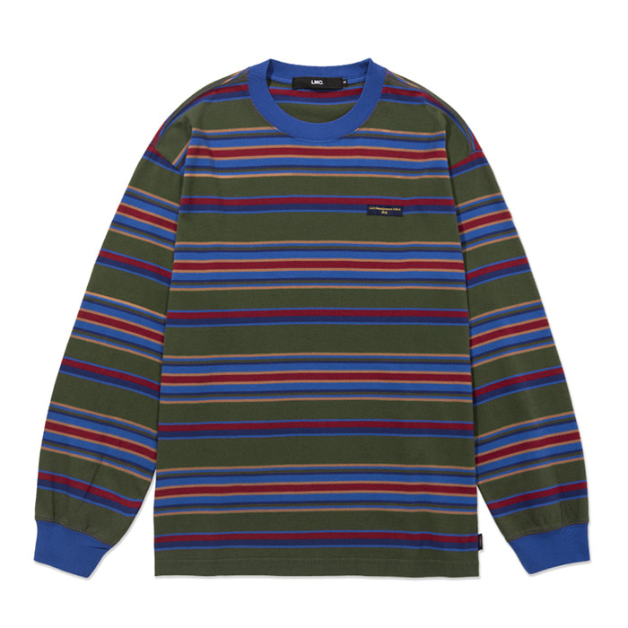 엘엠씨 롱슬리브 LMC MULTI STRIPE LONG SLV TEE olive