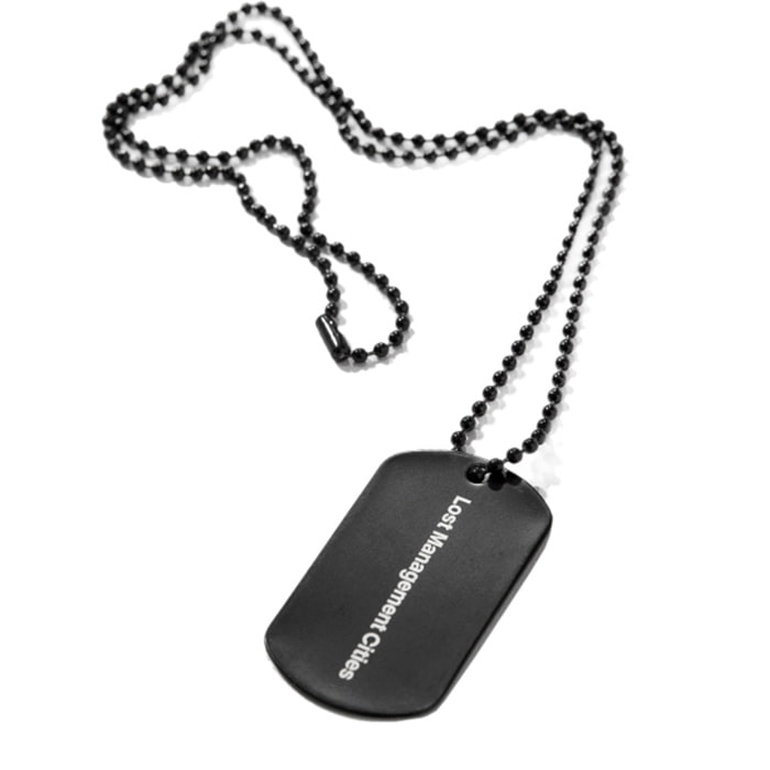 엘엠씨 목걸이 OG DOG TAG REMADE BY LMC black