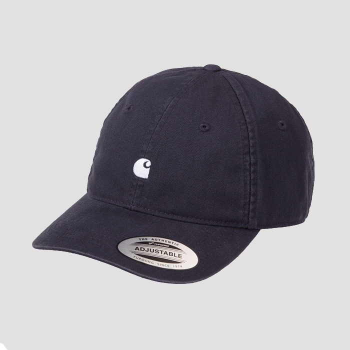 칼하트wip MADISON LOGO CAP Leather / Dark Navy