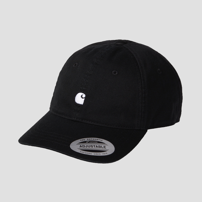 칼하트wip MADISON LOGO CAP Black / Wax
