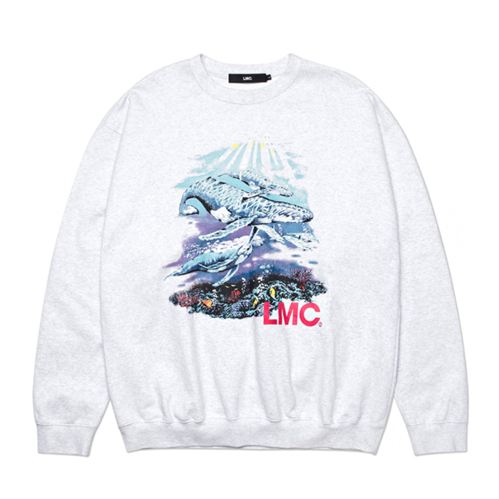 엘엠씨 맨투맨 LMC SEAWORLD OVERSIZED SWEATSHIRT lt. heather gray