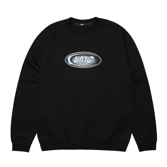 엘엠씨 맨투맨 LMC CONVEX CO SWEATSHIRT black