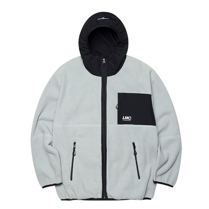 엘엠씨 자켓 LMC HOODED FLEECE JACKET gray
