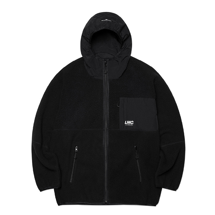 엘엠씨 자켓 LMC HOODED FLEECE JACKET black