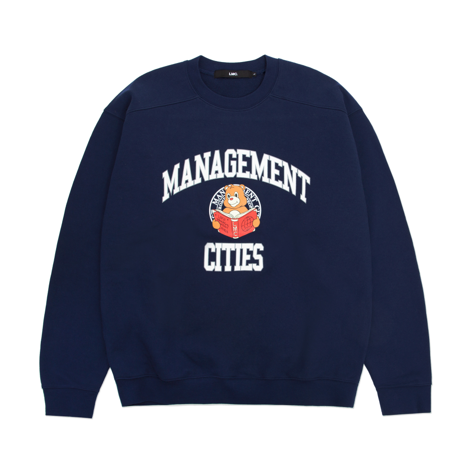 엘엠씨 맨투맨 LMC UNIV BEAR SWEATSHIRT navy