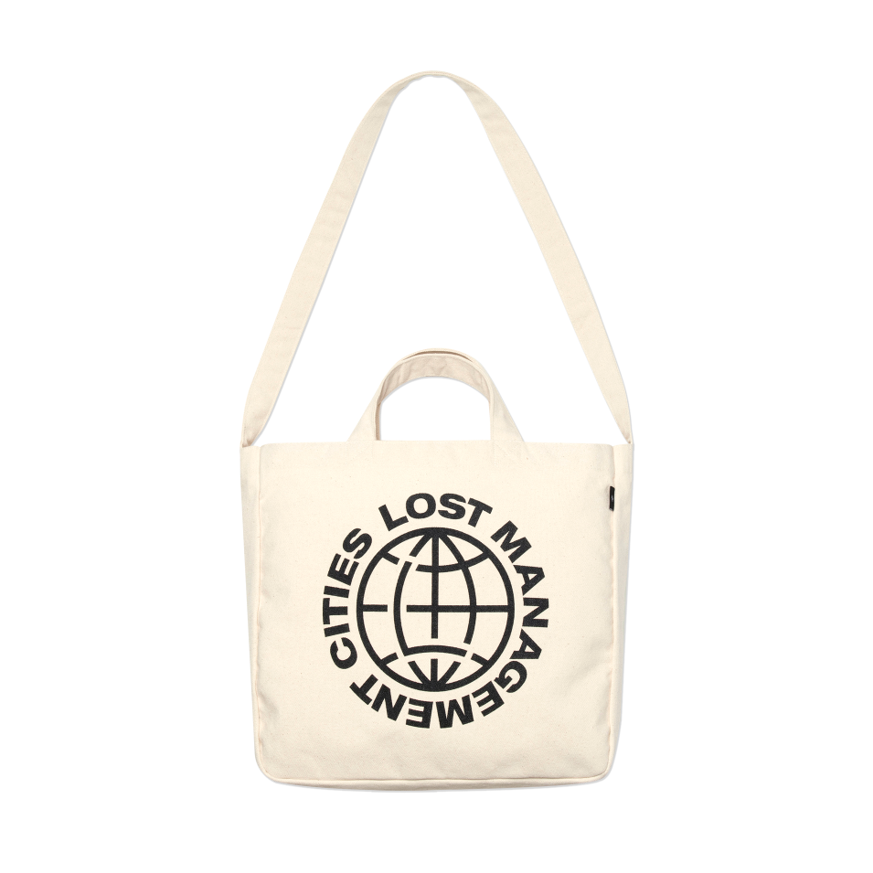 엘엠씨 가방  LMC WHEEL CANVAS ECO BAG ivory