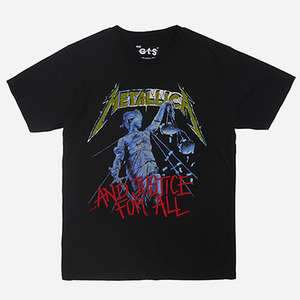 락아메리카 ROCK AMERICA T-SHIRTS METALLICA JUSTICE // BLACK