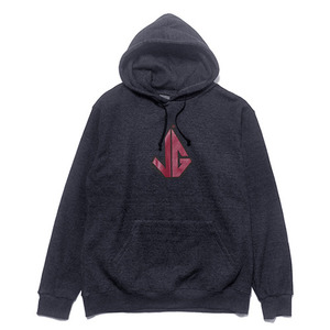 빈티지가이 후드 EZ Logo hoodie(Darke gray heather-RED)