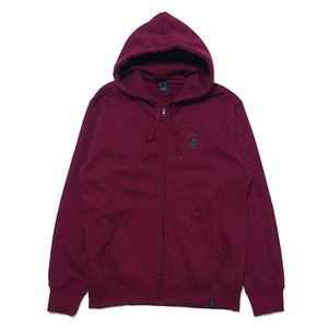 빈티지가이 Basic Zip Hoodie(Burgundy-Black)