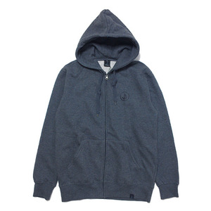 빈티지가이 Basic Zip Hoodie(Dark gray heather-Black)